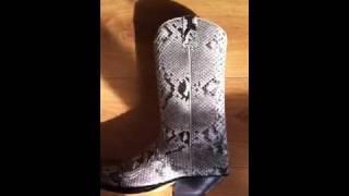 Sendra cowboy boots white snakeskin
