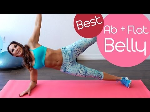 Best 5 Minute Ab and Flat Belly Workout | Natalie Jill
