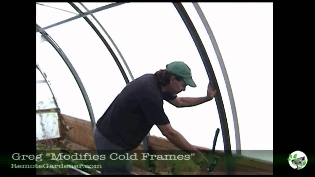 Remote Gardener - Solexx Covered Cold Frame Greenhouse - YouTube