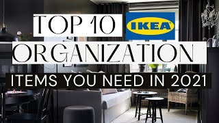 10 DESIGNER APPROVED IKEA Organization Items EVERYONE should Own in 2021! IKEA SHOP WITH ME!