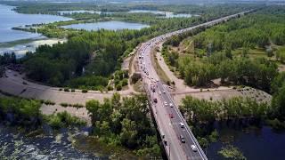 Ремонт Южного моста г. Самара 22.07.2017 (Video 4K)