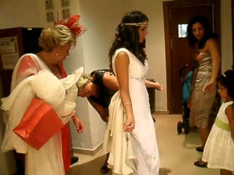 Broches recoger cola vestido novia