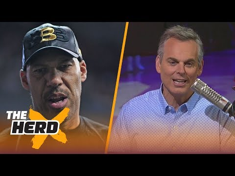 Colin on LaVar saying he wants his 3 sons on the Lakers, Kerr letting his players coach  THE HERD