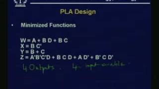 Lecture - 20 Logic Design with PLA