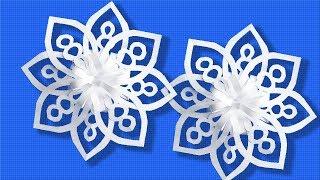✂❄️ Красивая новогодняя снежинка из бумаги | Как сделать объемную снежинку своими руками вырезание