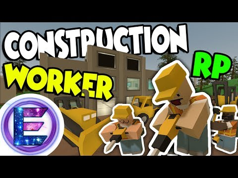 Construction Worker RP - Making a mansion for a very rich Guy - Call in 3 contractors - Unturned RP