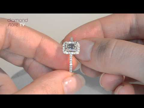 UT38 - Ella Emerald Cut Diamond Ring In 18k White Gold
