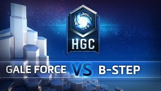 hgc na phase 1 game 2 gale force esports vs b step