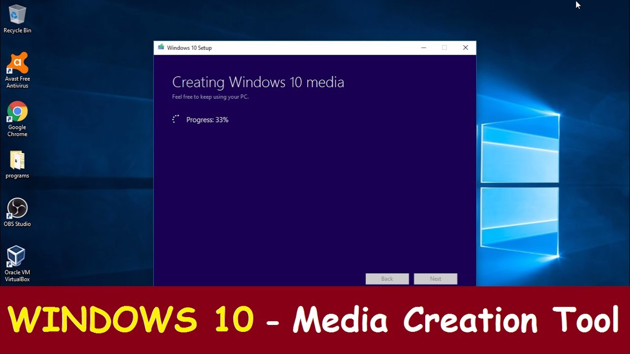 Resultado de imagen de Windows 10 - Media Creation Tool""