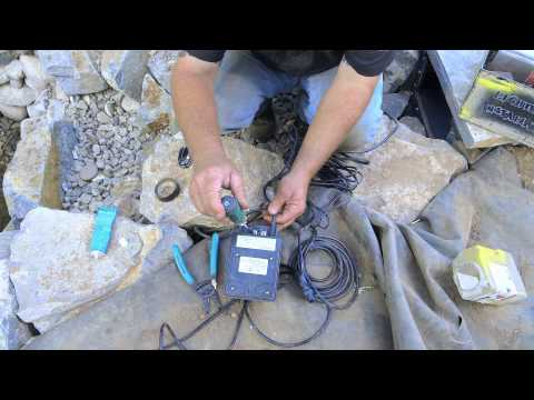 How To Build A Fish Pond - Part 19   Wiring Pond Lights
