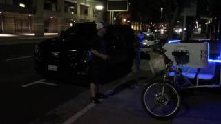Out of a Caddy and into a Trike. A Bad Arse ride Thru downtown for the heck of it - Beat Slappin'
