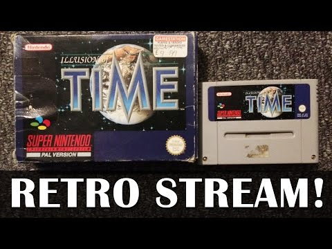 Let's Play Illusion of Time on original hardware! - Live SNES gameplay
