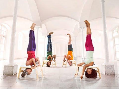 Feetup sedia yoga per posizione verticale youtube