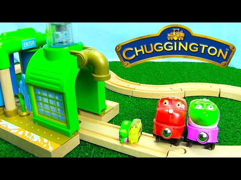 Thumbnail: Chuggington Trains Wooden Chug Wash for Wooden Railway Tracks with Surprise Eggs