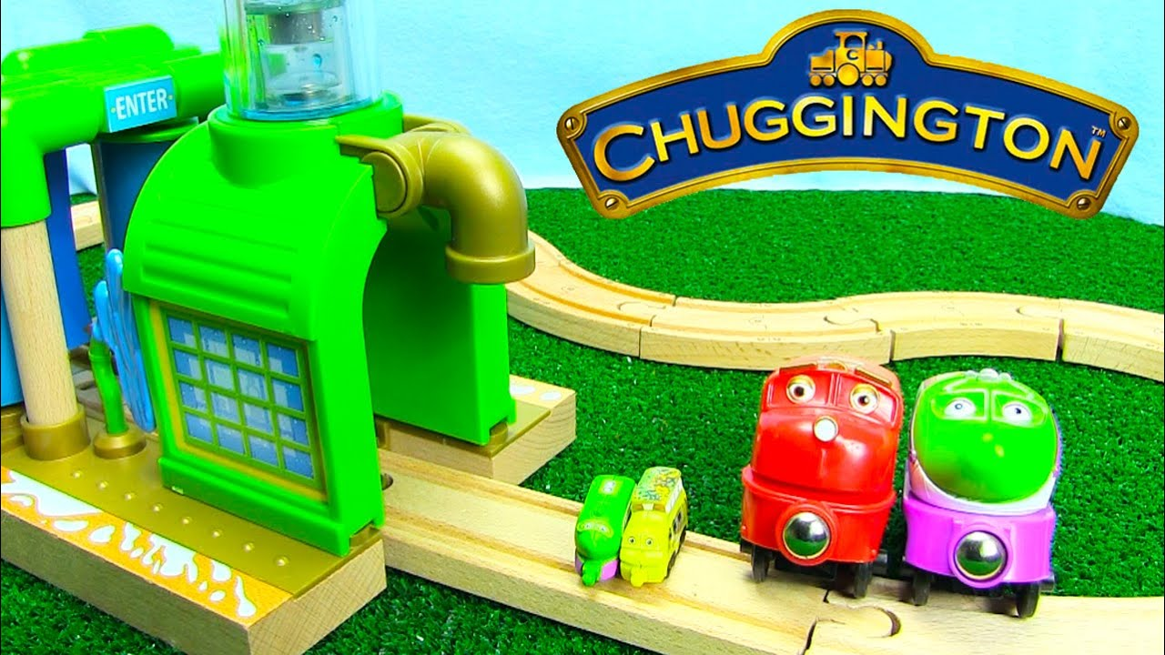 Chuggington Trains Wooden Chug Wash for Wooden Railway Tracks with Surprise Eggs - YouTube & Chuggington Trains Wooden Chug Wash for Wooden Railway Tracks with ...