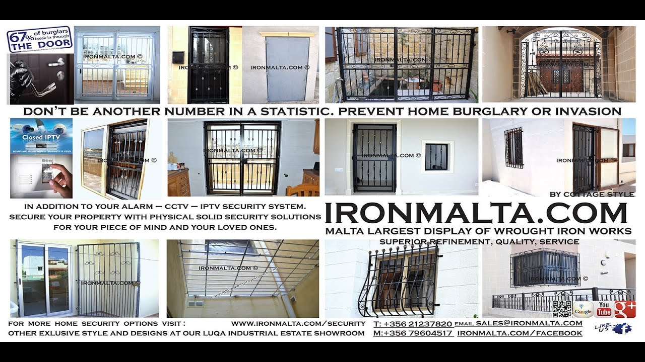 Security Solutions Iron Doors Gates Windows Malta