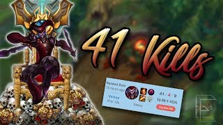 41 KILLS ON SHACO! - Challenger Smurfing in Gold Season 8 - The Highest Kill Shaco Game Ever?!
