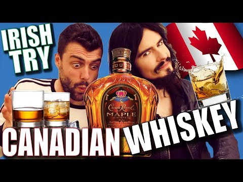 Irish People Taste Test 'CANADIAN WHISKEY' - First Time!!