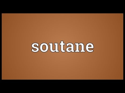 Header of soutane