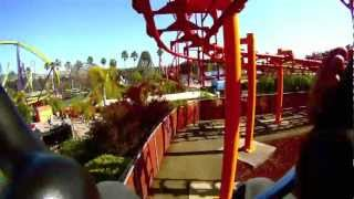 Roller Coaster Medusa, Six Flags Discovery Kingdom Vallejo, Ca. GoPro POV 1080p HD