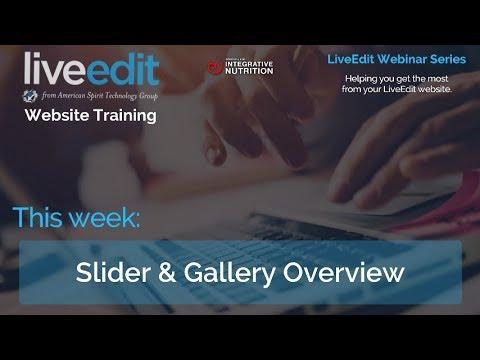 IIN Starter Webinar 3 29 18 Slider and Gallery