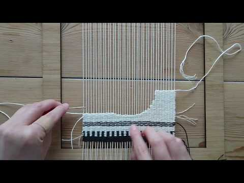 Making a Woven Wall Hanging - Step 4: Making a half circle - Weaving for Beginners