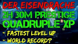 WORLD RECORD QUICKEST PRESTIGE!? - 2H 30M - RANK UP FAST WITH QUADRUPLE XP | Black Ops 3 |