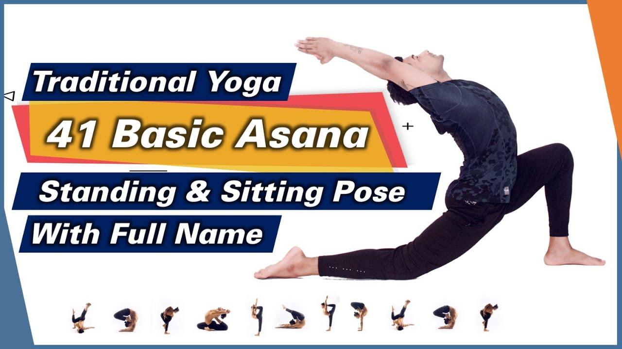 50 Traditional Asana Full Sanskrit Names Part 50 Standing and Sitting Yoga  Pose Names   Yograja
