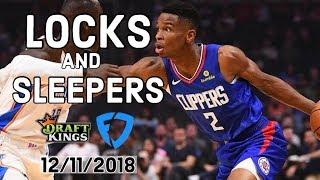 NBA 12/11/2018 DraftKings and FanDuel Locks and Sleepers — Locks DFS