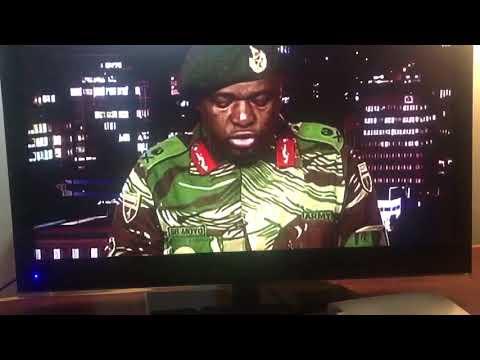 Zimbabwe Soldiers read address on state TV
