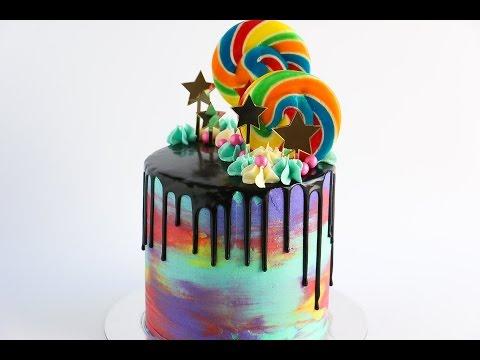 Loaded Watercolour Drip Cake- Rosie's Dessert Spot