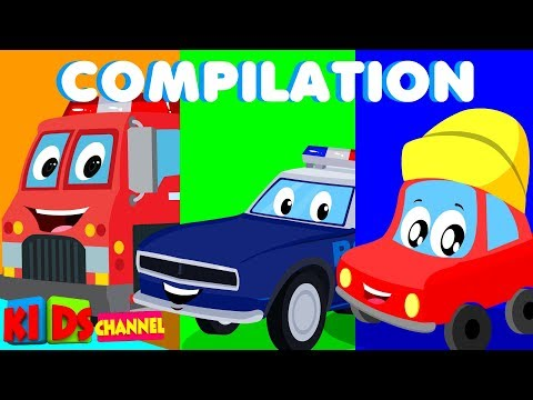 Little Red Car | Cartoons For Kids | Kids Channel For Babies | Funny Cartoon | Superheroes | Nursery