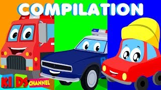 Little Red Car | Cartoons For Kids | Kids Channel For Babies | Funny Cartoon | Superheroes | Nursery