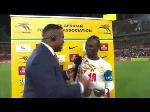 Sadio Mane interview after the game Senegal vs South Africa
