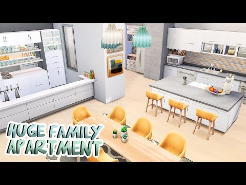 HUGE FAMILY APARTMENT 💛   The Sims 4: Apartment Renovation Speed Build