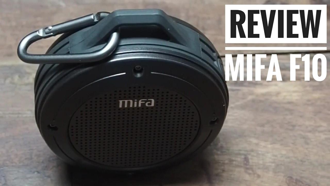 Mifa F10 Bluetooth Speaker Review Youtube Mini