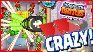 Bloons TD Battles - CRAZY LATE GAME RAY OF DOOM! NEW MAP CONCRETE ALLEY - BTD Battles 8 Temples!