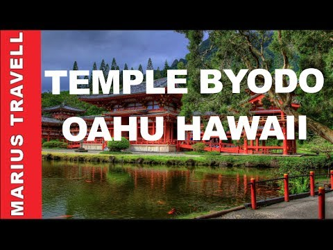 The magnificent Japanese Buddhist Temple Byodo-Oahu Hawaii,