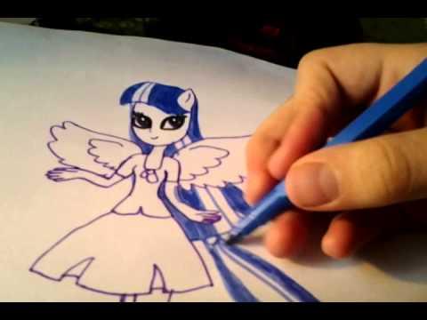 видео: как нарисовать твайлайт