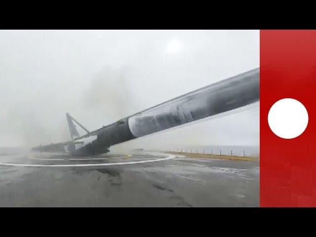 SapceX Falcon 9 v1.1 rocket explodes on landing