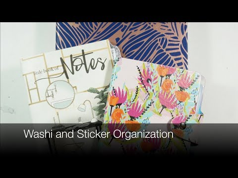 Sticker And Washi Organization System