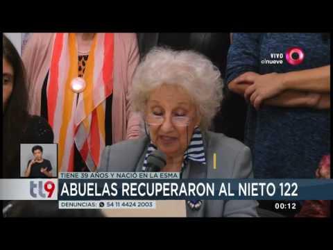 Abuelas anunció la recuperación del nieto 122: habló Estela de Carlotto