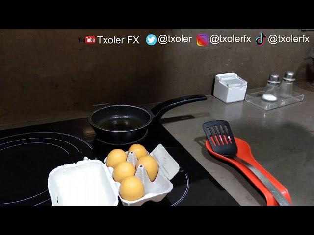 Easiest way to fry an egg. // La manera más fácil de freir un huevo.