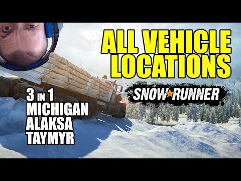 Snowrunner: All Vehicle Locations In All Regions - Michigan, Alaska, Taymyr