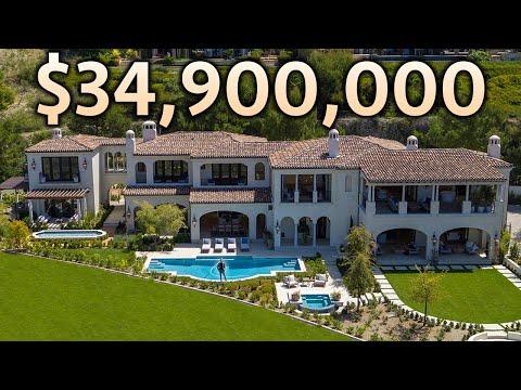 Inside a $34,900,000 CALIFORNIA MEGA MANSION with Ocean Views!