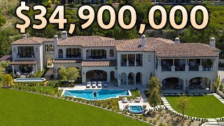 Inside a $34,900,000 CALIFORNIA MEGA MANSION with Ocean Views!