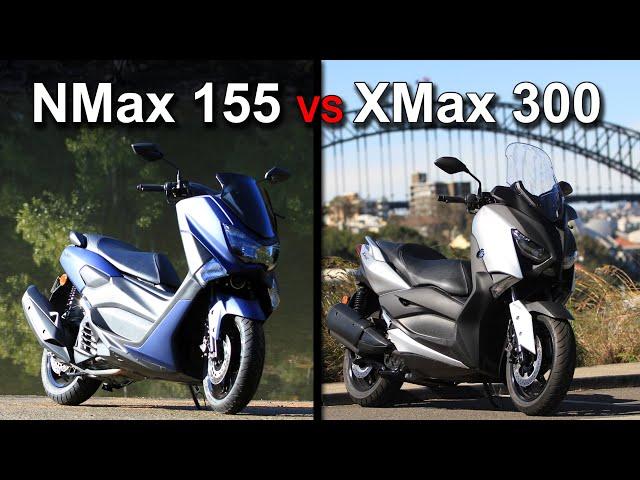 2020 Yamaha XMax 300 vs NMax 155   Is bigger better?