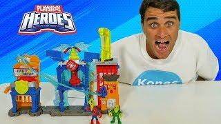 Marvel Super Hero Adventures Spider Man Web Quarters Playset !    Toy Review    Konas2002