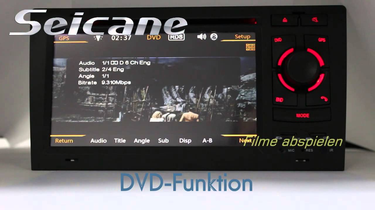 gps navigationssystem auto dvd player f r audi a8 s8 mit. Black Bedroom Furniture Sets. Home Design Ideas