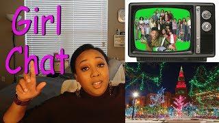Girl Chat... TV and Christmas Lights